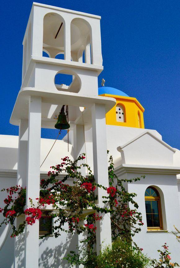 Colourful church in Galini