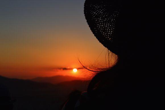 Mount Lycabettus at sunset