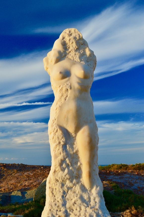 The statue of Ariadne at Naxos island