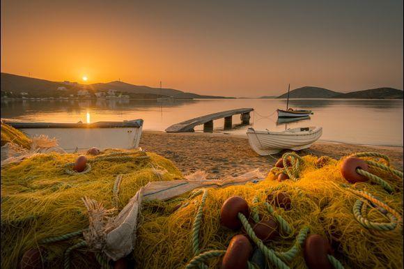Astypalea island sunrise in Maltezana beach!
