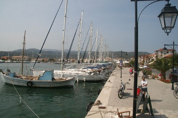 Lefkada city yacht port