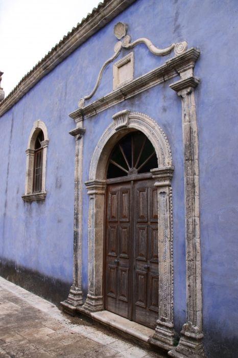 Purple/blue church
