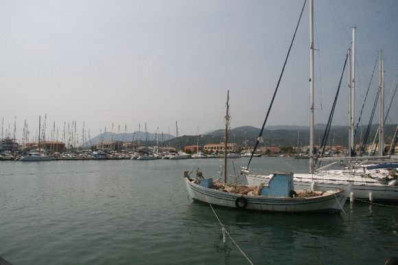 Yachting port Lefkada city