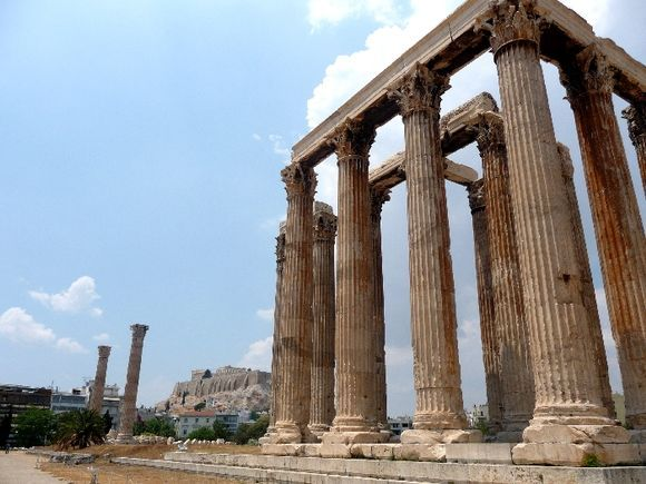 The mighty Parthenon as seen from the Temple of Zeus.
