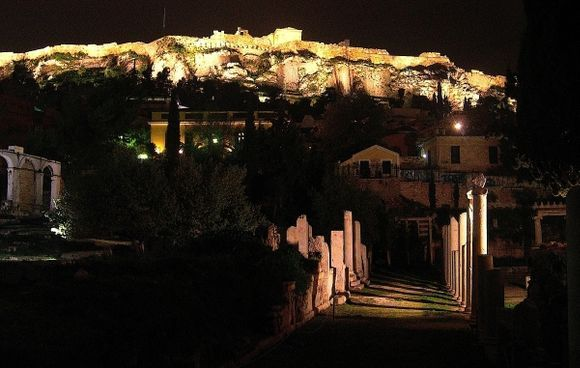 Agorà under Acropolis