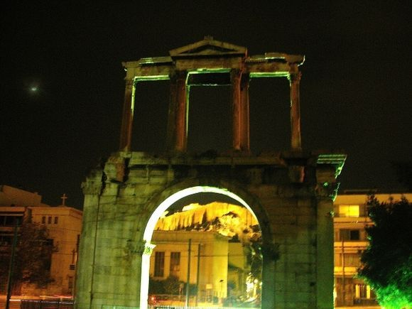 The Acropolis under the arches