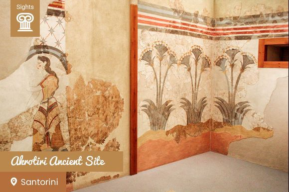The ancient town of Akrotiri on Santorini island was destroyed during the volcano eruption in the 16th century B.C. and was buried in ashes for thousand of years. This resulted in the perfect preservation of fine frescoes, objects, and artworks. Not earlier than 1967, excavations began and revealed the amazing treasure that was hidden under the Santorinian soil for centuries, giving us important information about the Minoan civilization. If you visit Santorini and you are passionate about history and lost civilizations, don't miss the guided tour of Akrotiri: https://www.greeka.com/cyclades/santorini/tours/s4-akrotiri-guided-tour/