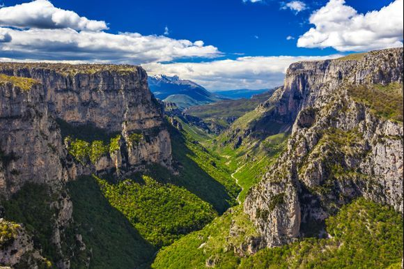 """Vikos Gorge is located in Epirus only 30 kilometers away from the city of Ioannina and it is listed as """"the deepest relative to its width"""