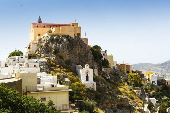 The Monastery of Capuchin in Ano Syros 💙 It's located in Ano Syros and is dedicated to Saint John. It was founded in 1653 and it has played an important role in the religious and social life of the inhabitants. Find out more here 👉 http://bit.ly/31imcca