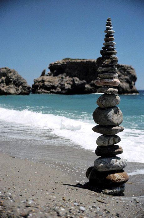 Sougia Beach - Cairn.