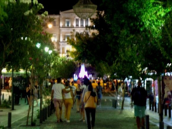 Going to Syntagma Square by Ermou St.