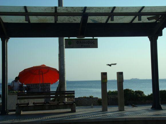 Flisvos stop, in Flisvos Beach.
