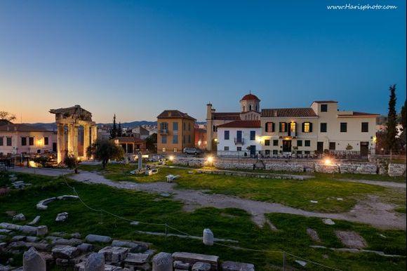Twilight at Roman market