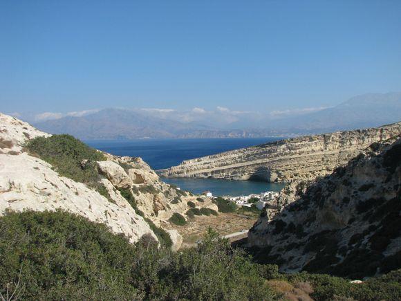 View over Matala, Crete