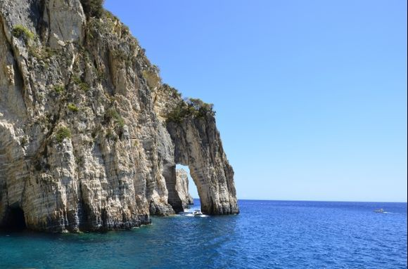 Keri Caves are even more beautiful than the Blue Caves on the other side of Zakynthos island...but don\'t be fooled by such beauty...water seemed wonderful for swimming but it was full of jellyfish...