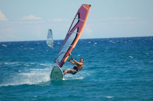 Windsurfing on Mavrovouni Beach