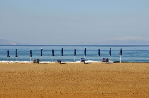 The beatifull beach of Pyrgaki.