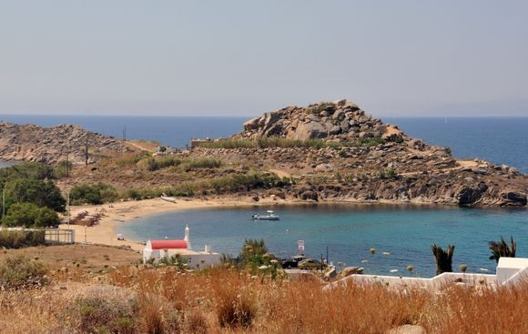 The beautiful and very quite beach of Agia Anna.