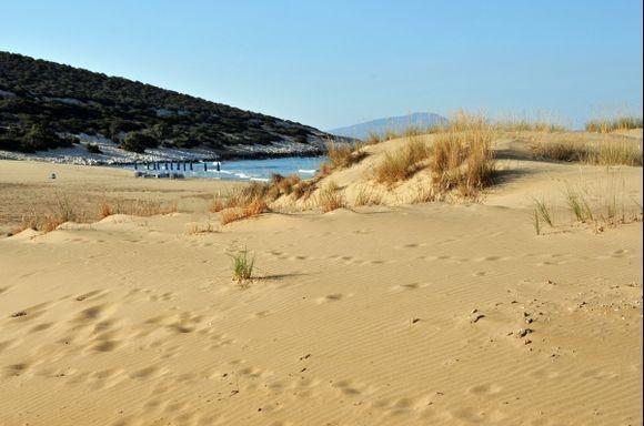 Dunes near Psili Ammos.
