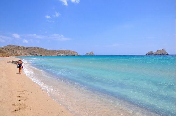 The beautiful beach of Xerocambos(Crete)