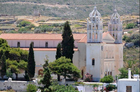 The church of Aghia Triada, Lefkes.