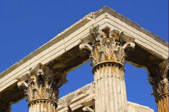 Ancient Greek pillars, Athens