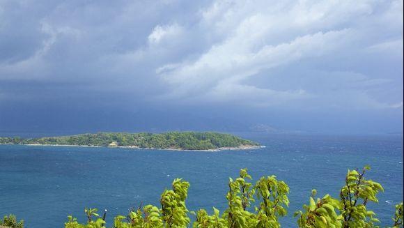 Sea panorama from Corfu fortress