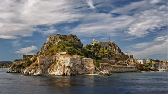 The old Venetian fortress of Corfu town