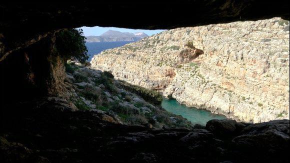 hidden in koutalos beach rocks