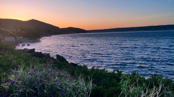 sunset over the Kalyves