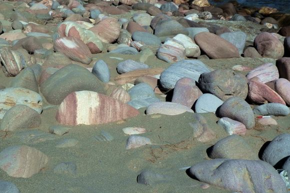 Multicolored rocks and stones