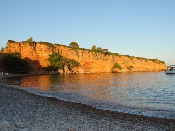 The beach at Kokinocastro in the evening sun