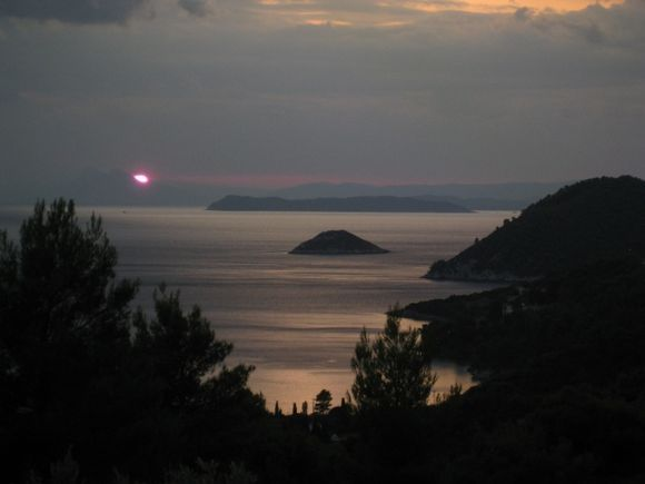 Sunset over Panormos bay taken from Mourtero