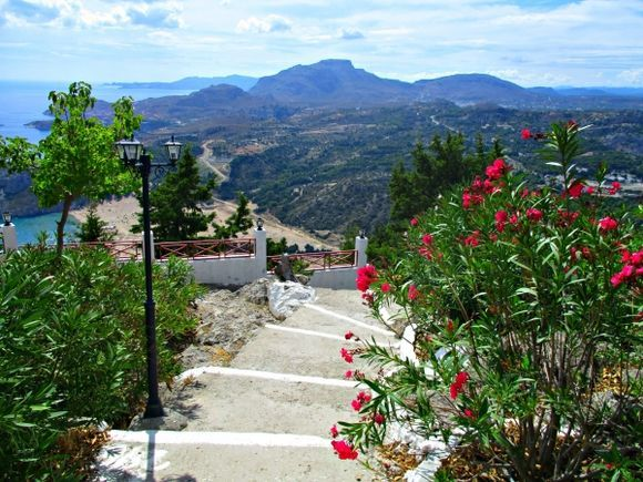 Such a lovely view from Panagia Tsambika