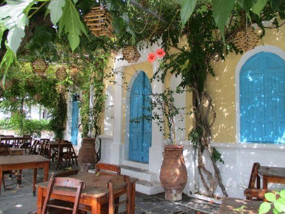 A pretty corner in Lardos village.