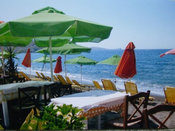No takers for lunch on Petra beach, Lesvos.