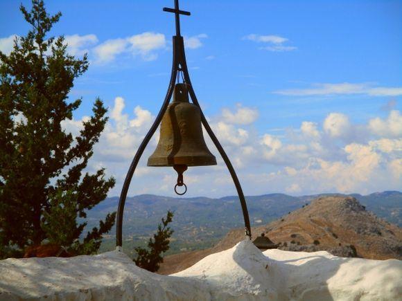 The large bell at Tsambika Monastery
