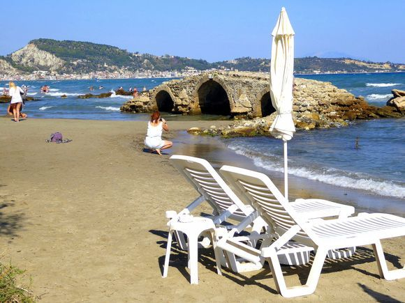 View of Agassi bridge from the beach