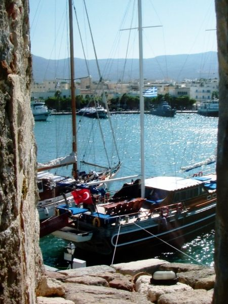 Kos harbour from the castle.