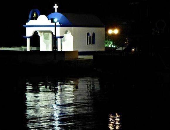 Lovely church at the little port in Falaraki
