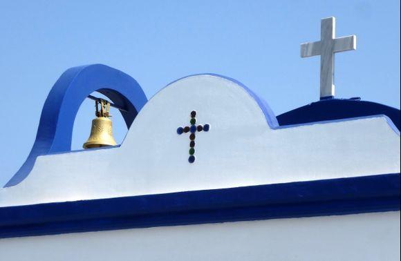 St Apostolos Church at the little port in Falaraki