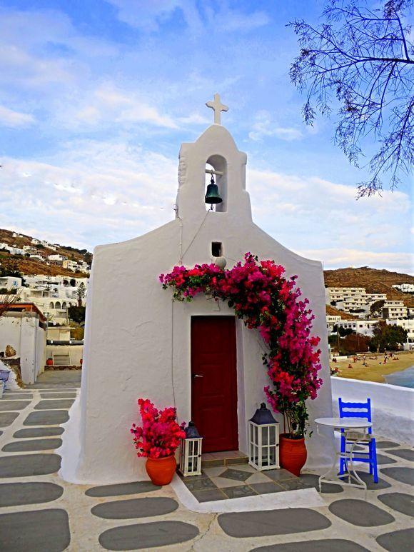 Such a pretty little church in Agios Stefanos.