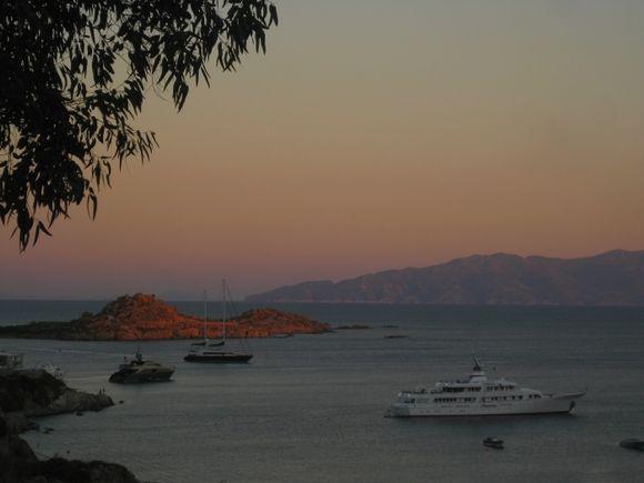 After sunset from Mykonos - Psarrou beach.