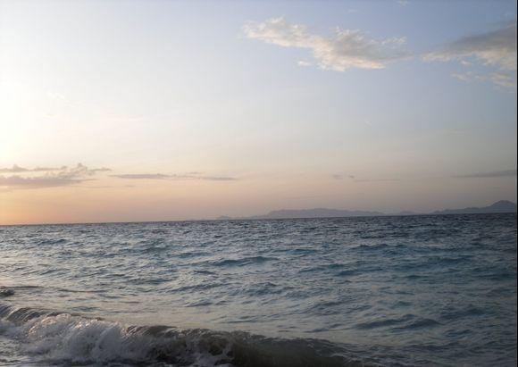 Evening at the shore in Ialyssos