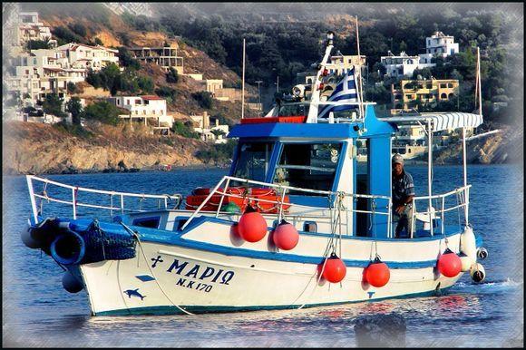 Ferry passing Telendos.