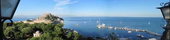 View from the roofgarden of Hotel Cavalieri in Corfu Town