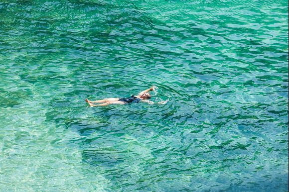 Green water of Piso Krioneri Beach