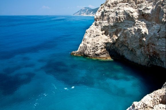 The blue of Lefkada