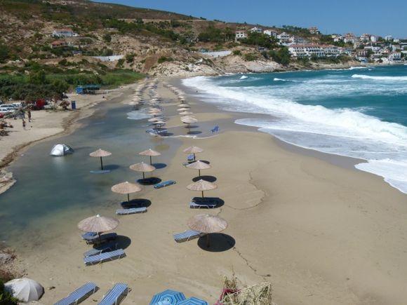 la plage un jour de grand vent