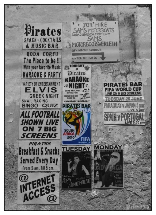 Various Adverts on wall...